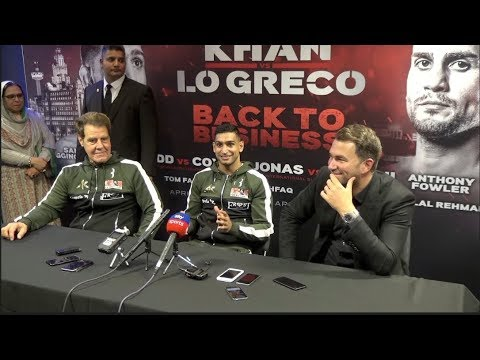 AMIR KHAN v PHIL LO GRECO **FULL** & COMPLETE) POST FIGHT PR