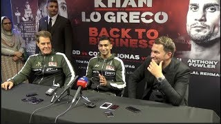 AMIR KHAN v PHIL LO GRECO **FULL** & COMPLETE) POST FIGHT PRESS CONFERENCE W/ EDDIE HEARN