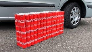 100 Coca Cola Cans vs CAR