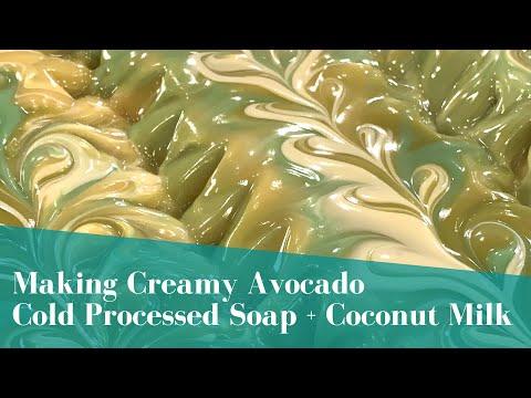 Making Creamy Avocado & Coconut Milk Cold Processed Soap