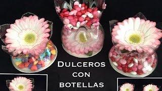 Repeat youtube video DULCEROS  HECHOS CON BOTELLAS PET PARA FIESTAS .