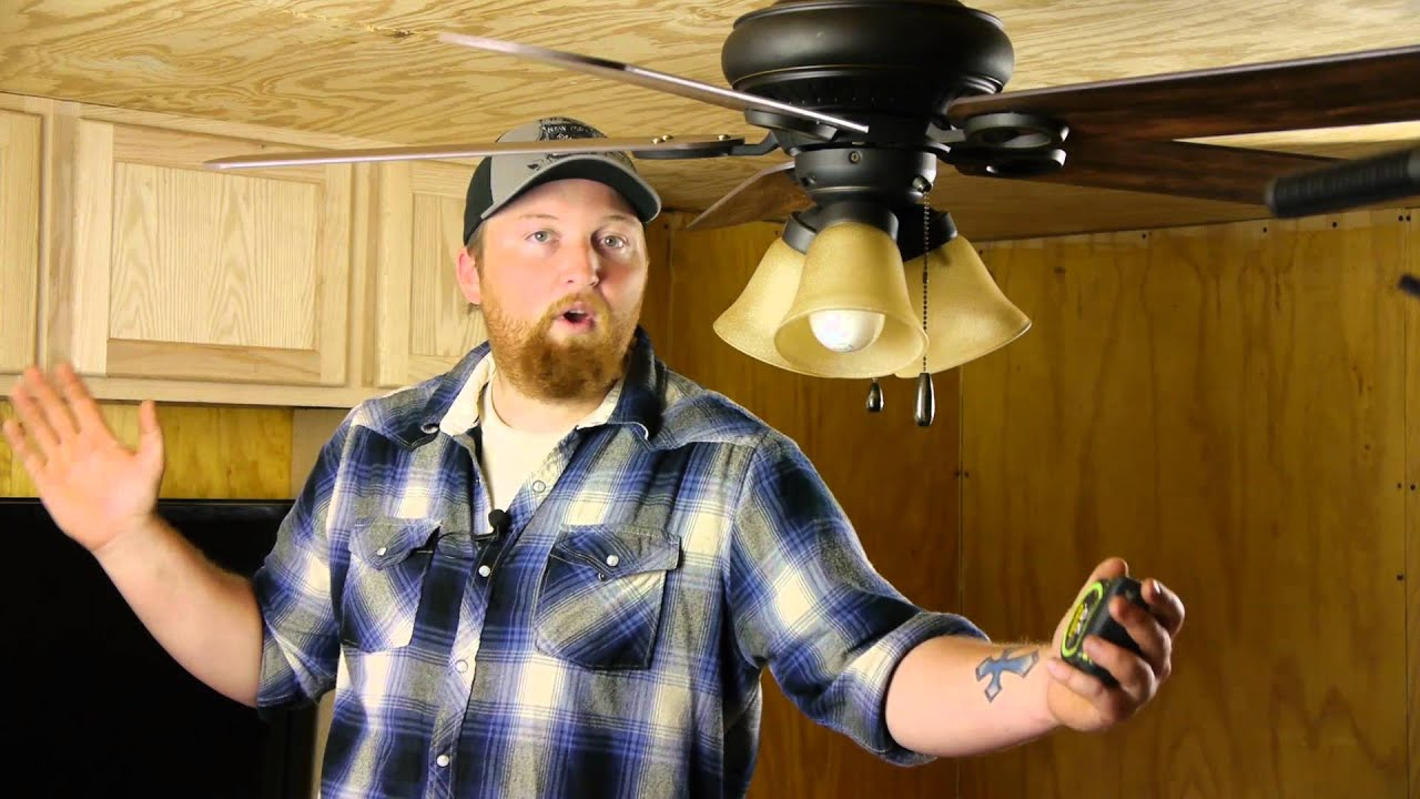 How to measure for a ceiling fan ceiling fan maintenance youtube mozeypictures Gallery