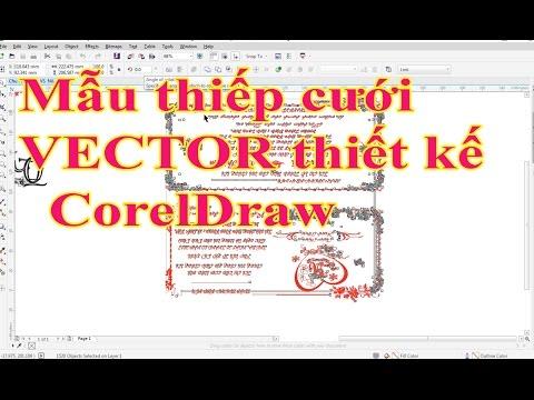 Mẫu thiệp cưới VECTOR thiết kế  CorelDraw đơn giản thiết kế chữ Lồng