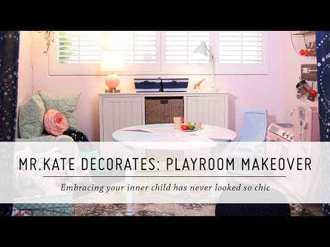 Mr. Kate Decorates: Playroom Makeover | Pillowfort Home Decor & DIY Interior Design thumbnail