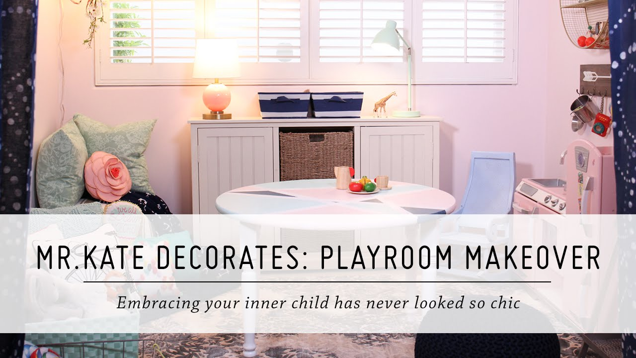 Mr. Kate Decorates: Playroom Makeover | Pillowfort Home Decor & DIY Interior Design