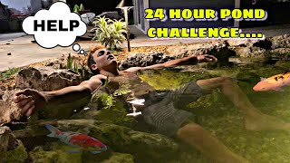 24 HOUR POND CHALLENGE - ft. Paul Cuffaro