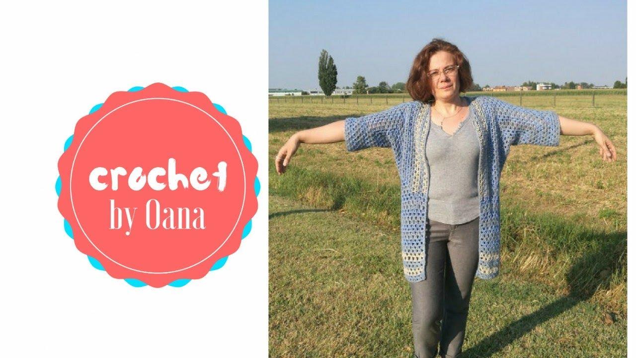2 hexagon crochet cardigan by Oana - YouTube
