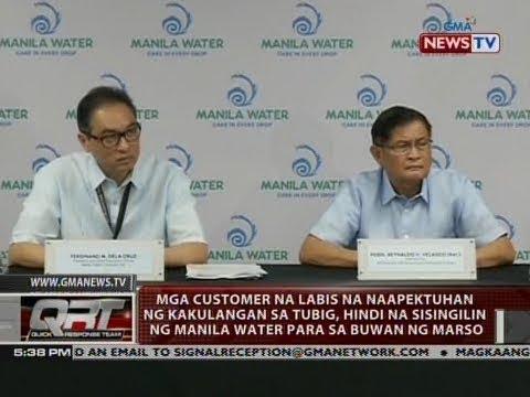 QRT: Mga customer na labis na naapektuhan ng kakulangan sa tubig, hindi na...