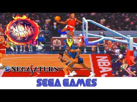 NBA Jam Tournament Edition - NBA JAM トーナメントエディション (Quick Gameplay) Sega Saturn
