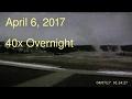 April 6, 2017 Upper Geyser Basin Overnight Streaming Camera Captures