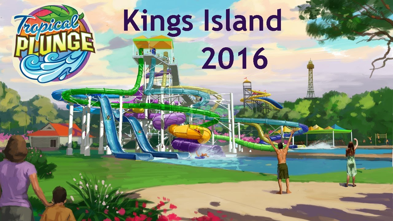 Tropical plunge coming in 2016 kings island new water slide 7 story complex ride renderings ohio