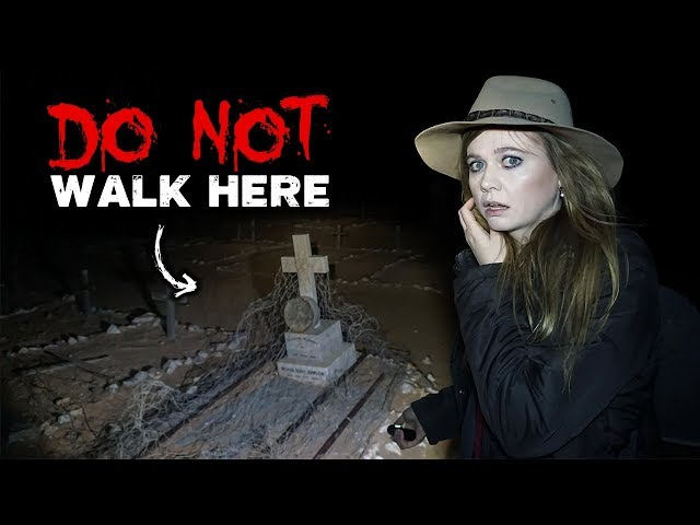 HAUNTED Australian Outback Cemetery at NIGHT | Crazy GHOST Activity