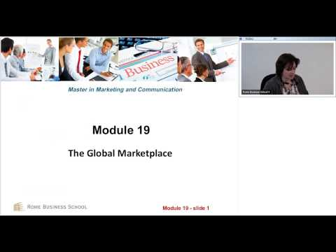 "Lecture on ""The Global Marketplace"" - Online Master in Marketing and Communications"