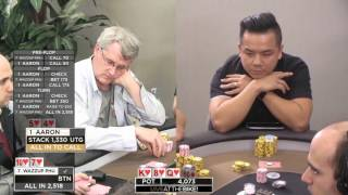 Gross Spot for $4000 with Flush over Flush ♠ Aaron vs Wazzup Phu ♠ Live at the Bike!