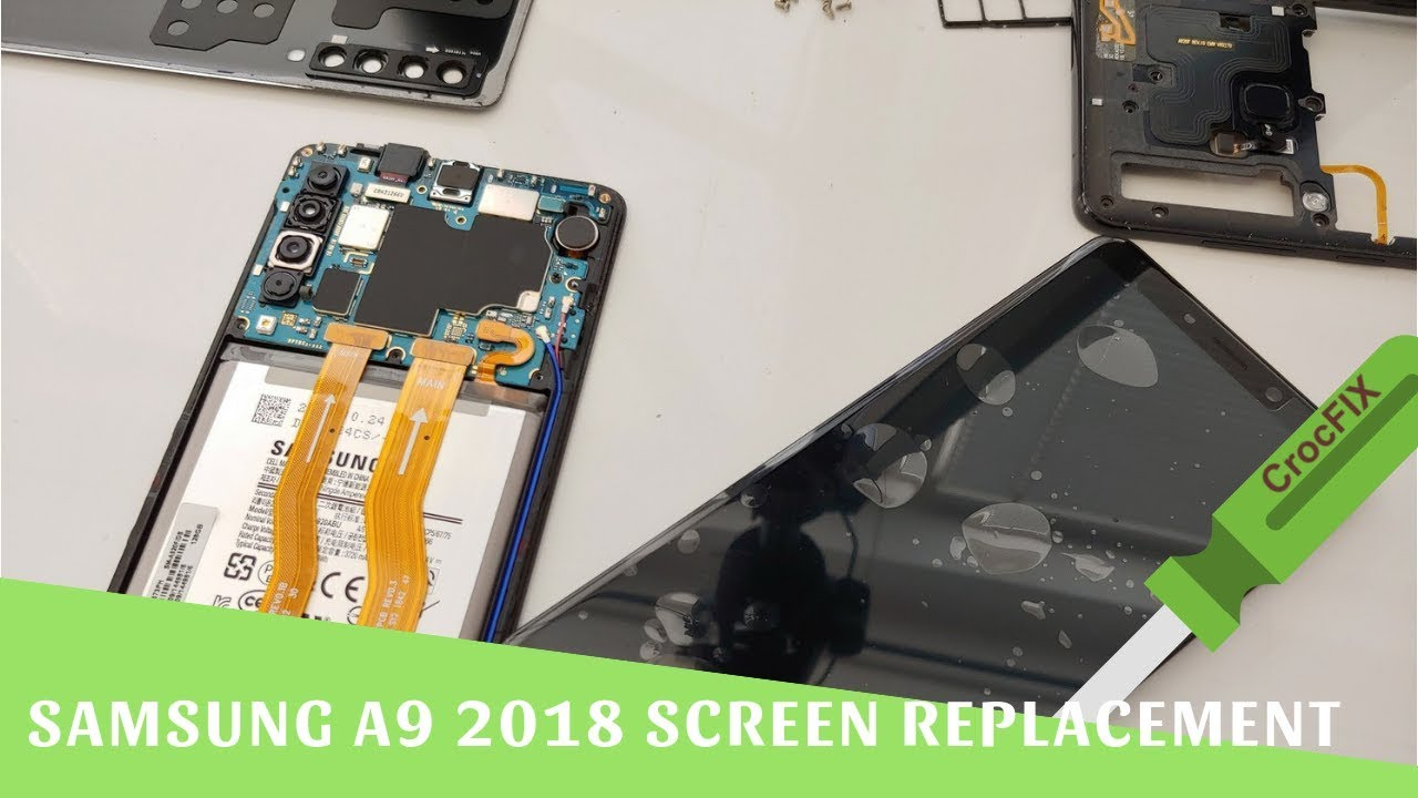 Samsung A9 2018 A920F Screen Replacement Full tutorial - nothing left by  CrocFIX