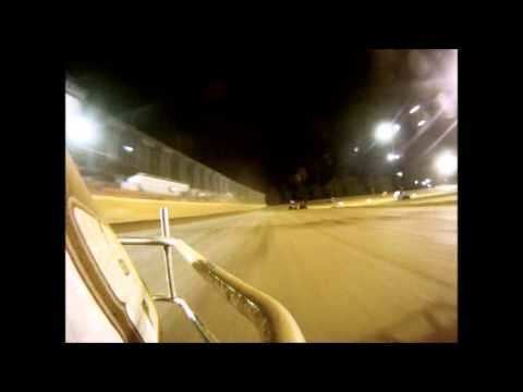 #28 David Forbis feature race bumper-cam at Ark-La-Tex Speedway 10/19/12