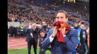Totti's speech to the Roma fans at the Stadio Olimpico