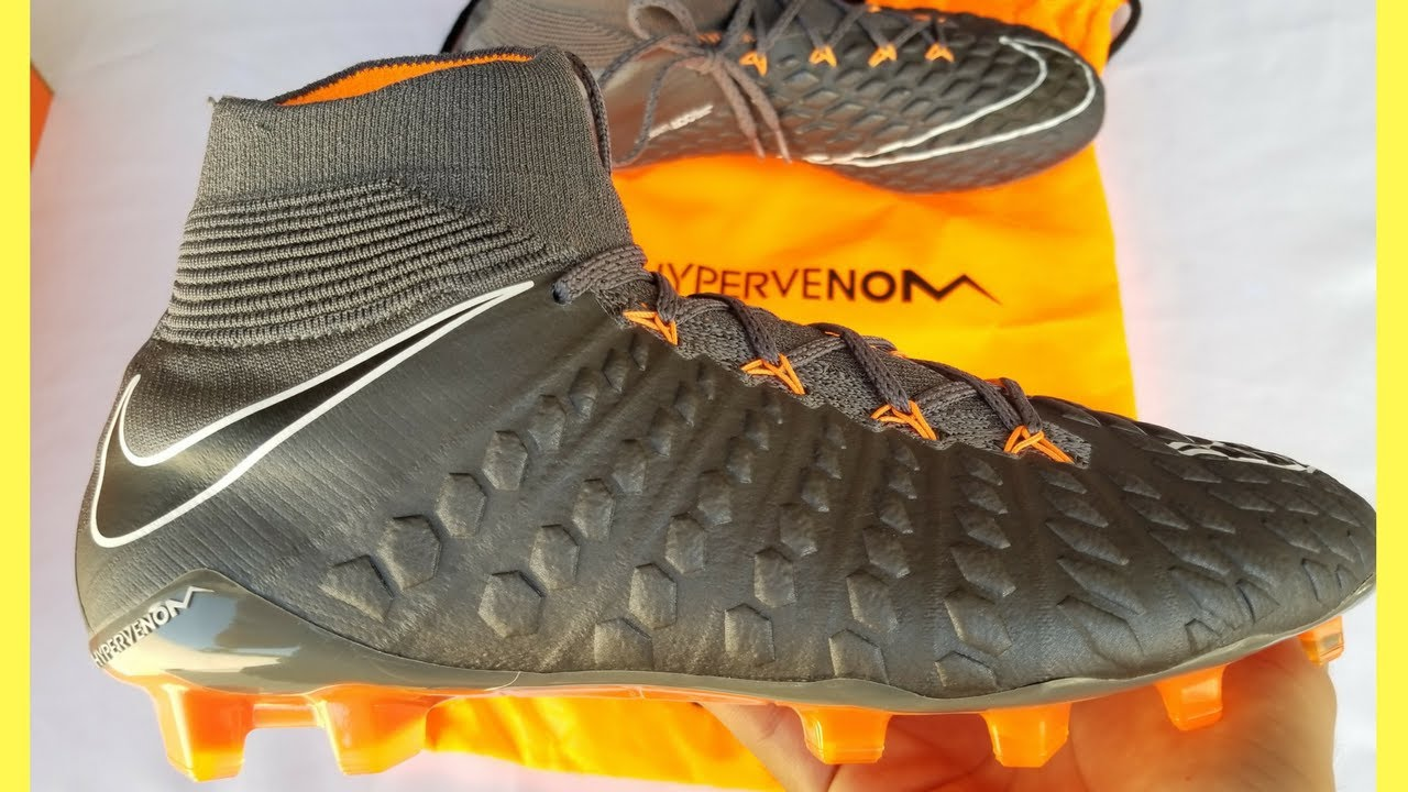 bfd8e724b ... ireland unboxing hypervenom phantom iii elite df dark grey black total  orange white nike fast af