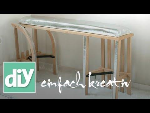 schuhb nkchen aus einem schlitten diy einfach kreativ youtube. Black Bedroom Furniture Sets. Home Design Ideas