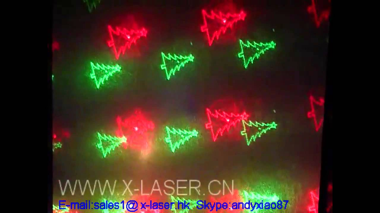 Christmas Gift Laser Light With Patterns Christmas Old Man