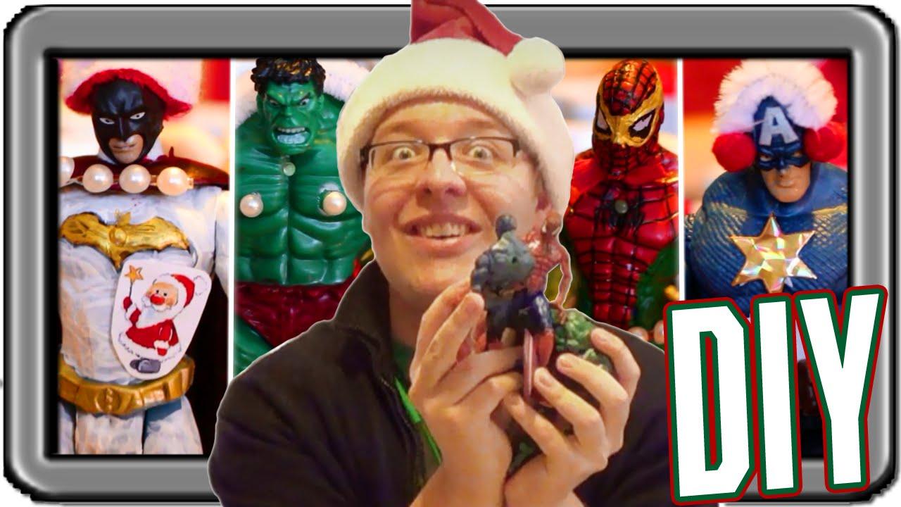 weihnachts avengers actionfiguren diy youtube. Black Bedroom Furniture Sets. Home Design Ideas