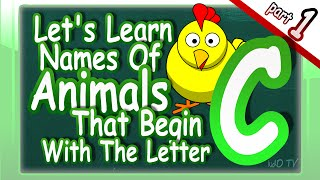 Animals Names English Begin Letter Part