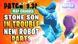 Stone Family SON in Trouble and Robot Factory update (Fortnite Map Changes Patch 9.30 v3)