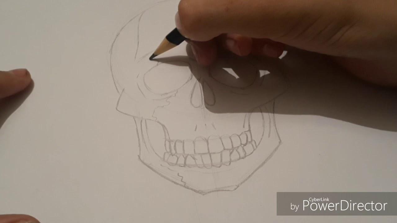 Como Desenhar Uma Caveira Simples Youtube