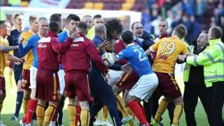 Bilel Mohsni fight on football pitch