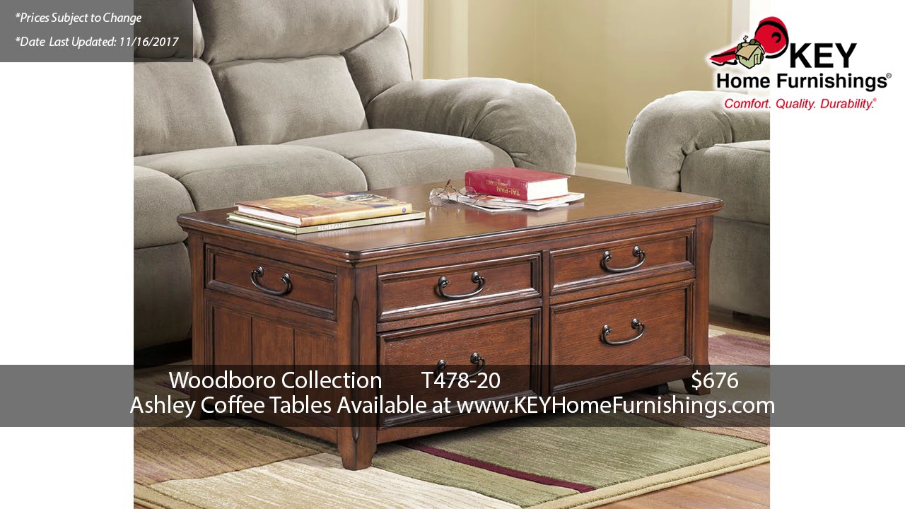 Sale Prices For Ashley Coffee Tables Pt Portland YouTube - Ashley woodboro coffee table