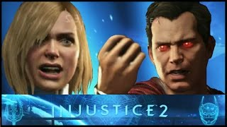 Injustice 2: Supergirl vs Superman Interactions and Clashes (Beta) (HD)