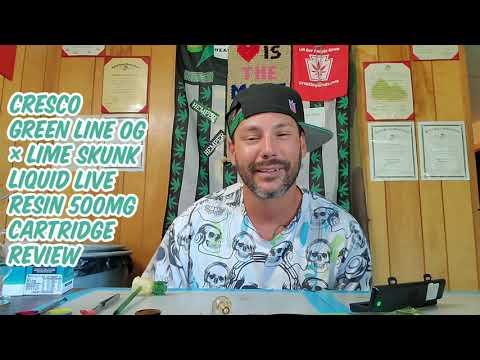 CRESCO GREEN LINE OG × LIME SKUNK LIQUID LIVE RESIN 500MG CARTRIDGE REVIEW
