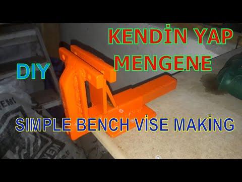 DIY: BASİT MENGENE NASIL YAPILIR/ HOW TO MAKE A SMALL VİSE EASY HOMEMADE #dıy #metalvise #cheapbuilt