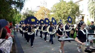 Dr. Ken Dye leads the ND Band playing the Notre Dame Victory March ...