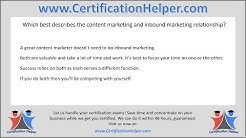 Which best describes the content marketing and inbound marketing relationship?