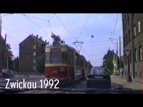 Zeitreise: Fahrt durch Zwickau/Sachsen Mai 1992