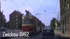 Zeitreise: Fahrt durch Zwickau (Sachsen) im Mai 1992 | Historische Aufnahmen der Stadt