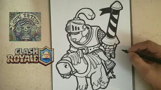 COMO DIBUJAR AL PRINCIPE - CLASH ROYALE / how to draw prince - clash royale