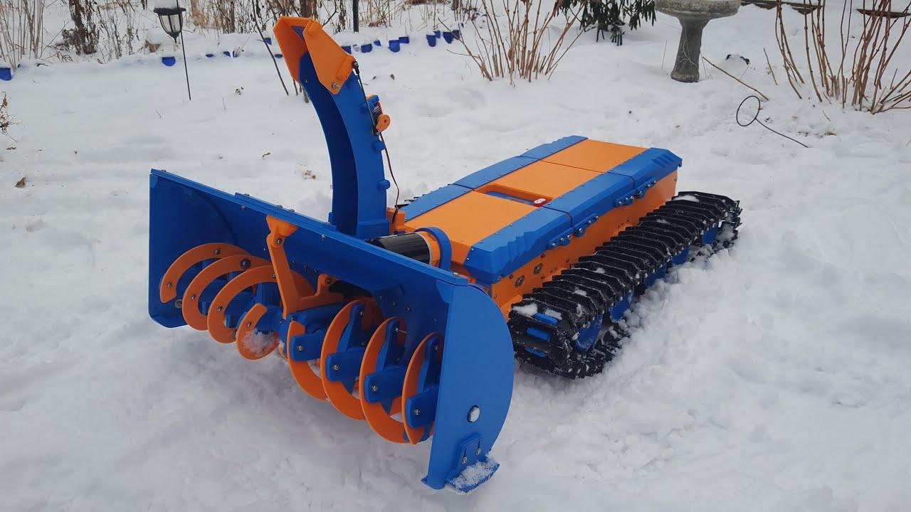 St  Paul man creates remote control 3D-printed snowblower - Bring Me
