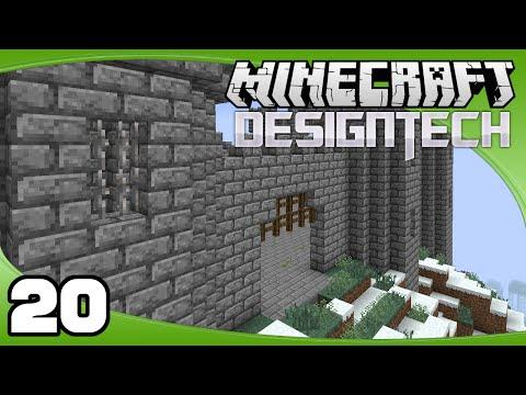 DesignTech - Ep. 20: Castle Floor & Gate   Minecraft Custom Modpack Let's Play