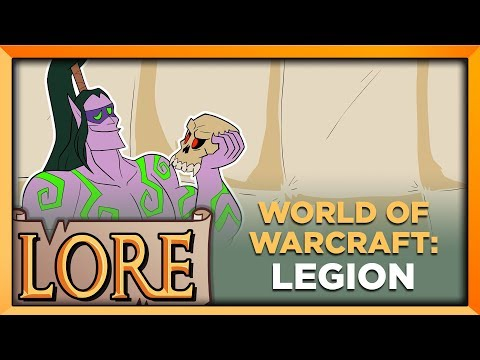 """WORLD OF WARCRAFT: LEGION   LORE in a Minute!   2016 WoW Expansion   Jake """"The Voice"""" Parr   LORE"""