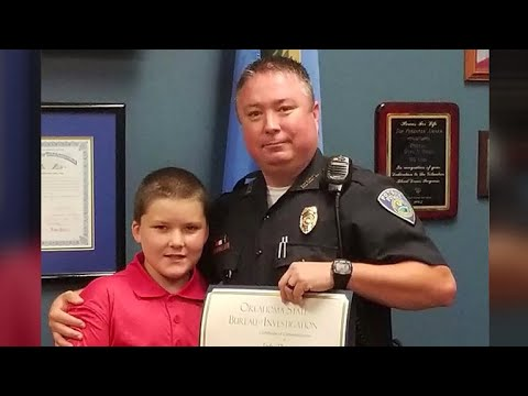 Police officer adopts 8-year-old after investigating his case of severe child abuse