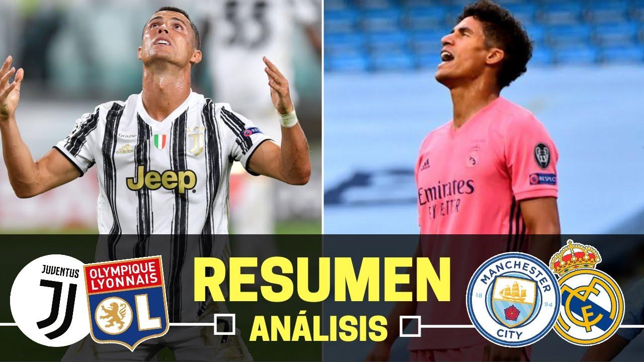 Champions League | MANCHESTER CITY vs REAL MADRID [2-1] • JUVENTUS vs LYON 2-1 | Resumen y Análisis