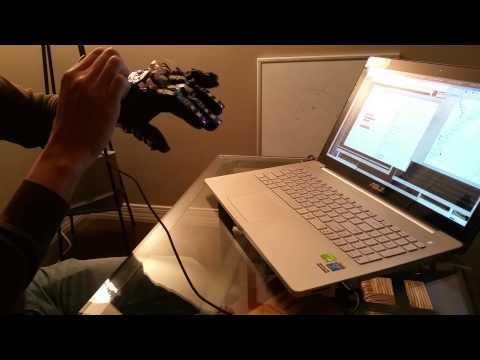 Manuvr Data Glove Recording Hand Gestures