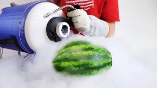 10 Gallons of Liquid Nitrogen vs Watermelon