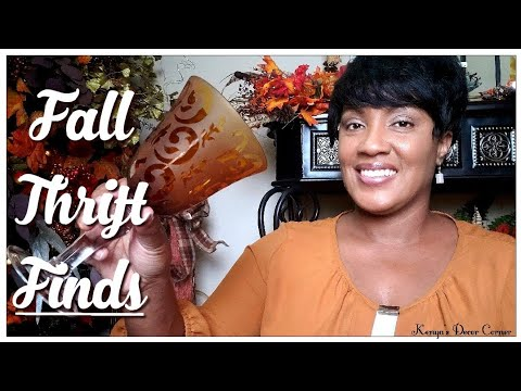 $5 Goodwill Challenge | Thrifted Fall Home Decor | Fall Tablescape Sneak Peek
