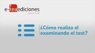 ¿Cómo realiza el examinando el test en e-TEAediciones?