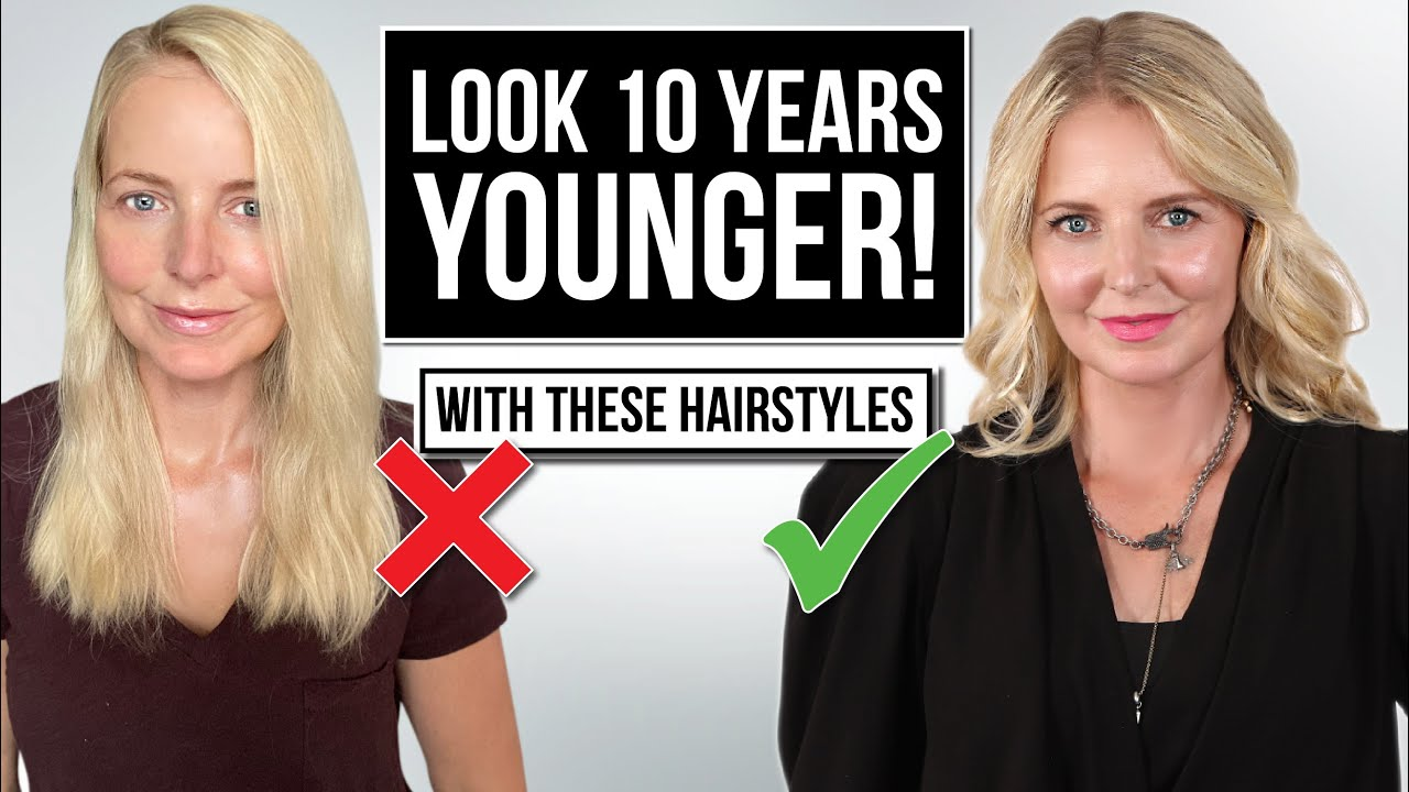 5 Ways To Style Your Hair To Look 10 Years Younger Youtube