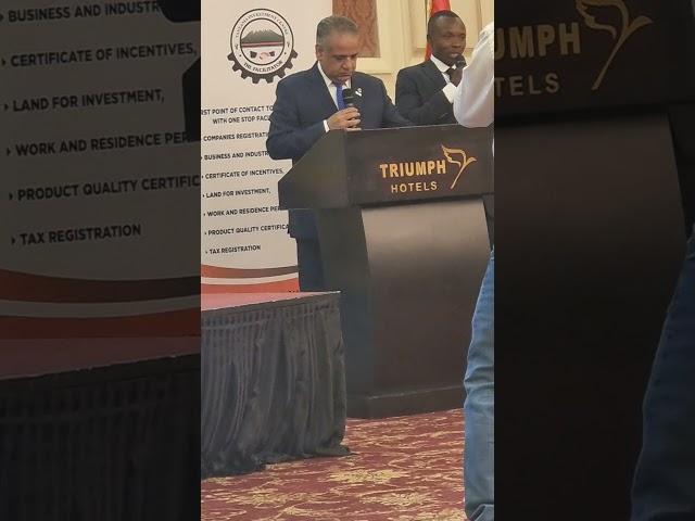 كلمة رئيس جمعية رجال الأعمال المصريين الأفارقه في لقاء وزير الاستثمار التنزاني
