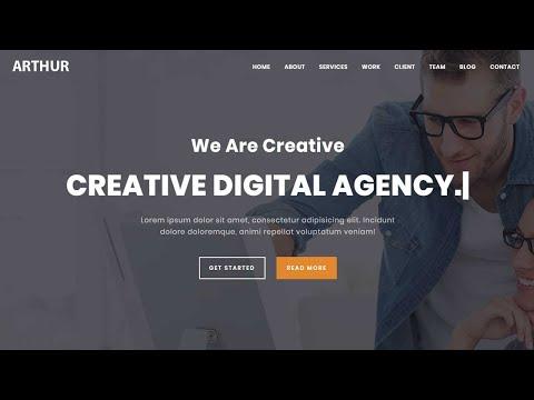 Arthur-Multipurpose HTML Landing Page Template | Bootstrap template